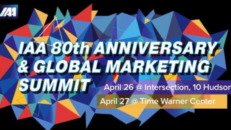 April 2018: IAA 80th Anniversary and Global Marketing Summit