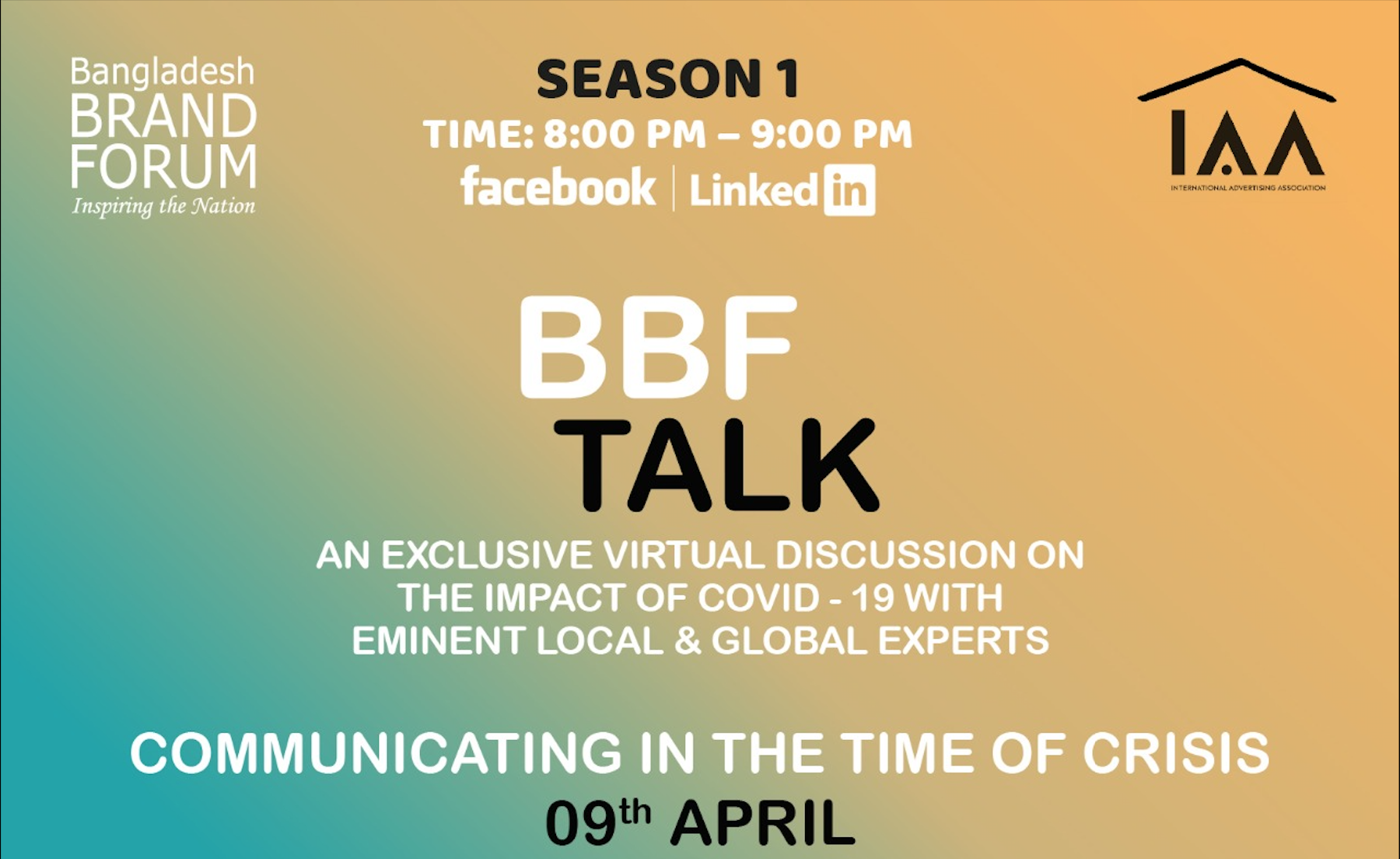 "IAA Bangladesh Chapter Launches ""BBF Talk"""
