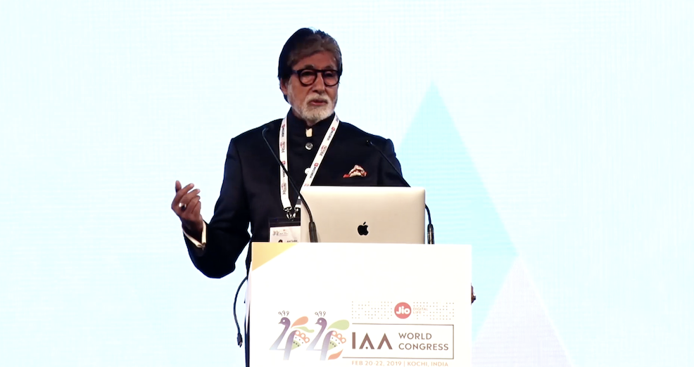 Amitabh Bachchan | IAA World Congress 2019